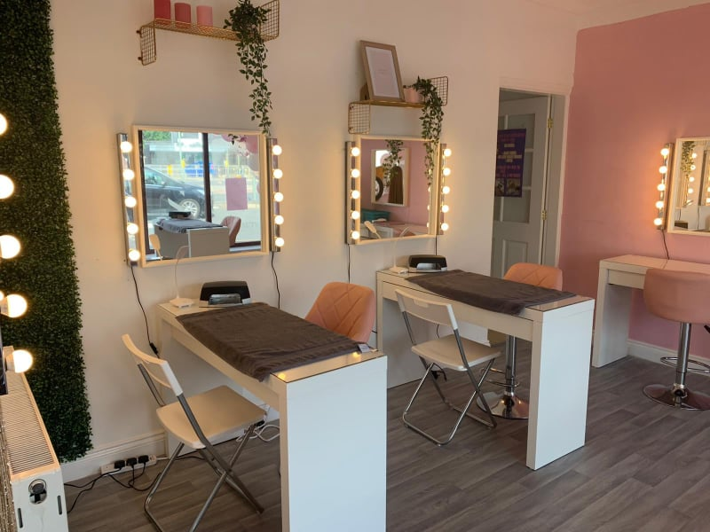 Nail table set up at our Hazel Grove centre.